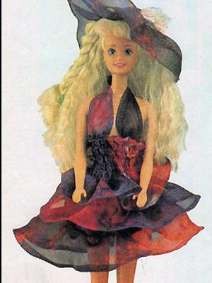 У этой модели платья трехслойная